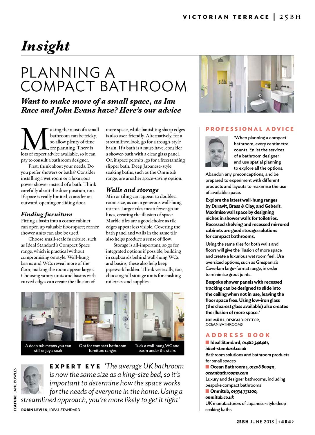 25 Beautiful Homes insights - planning a compact bathroom