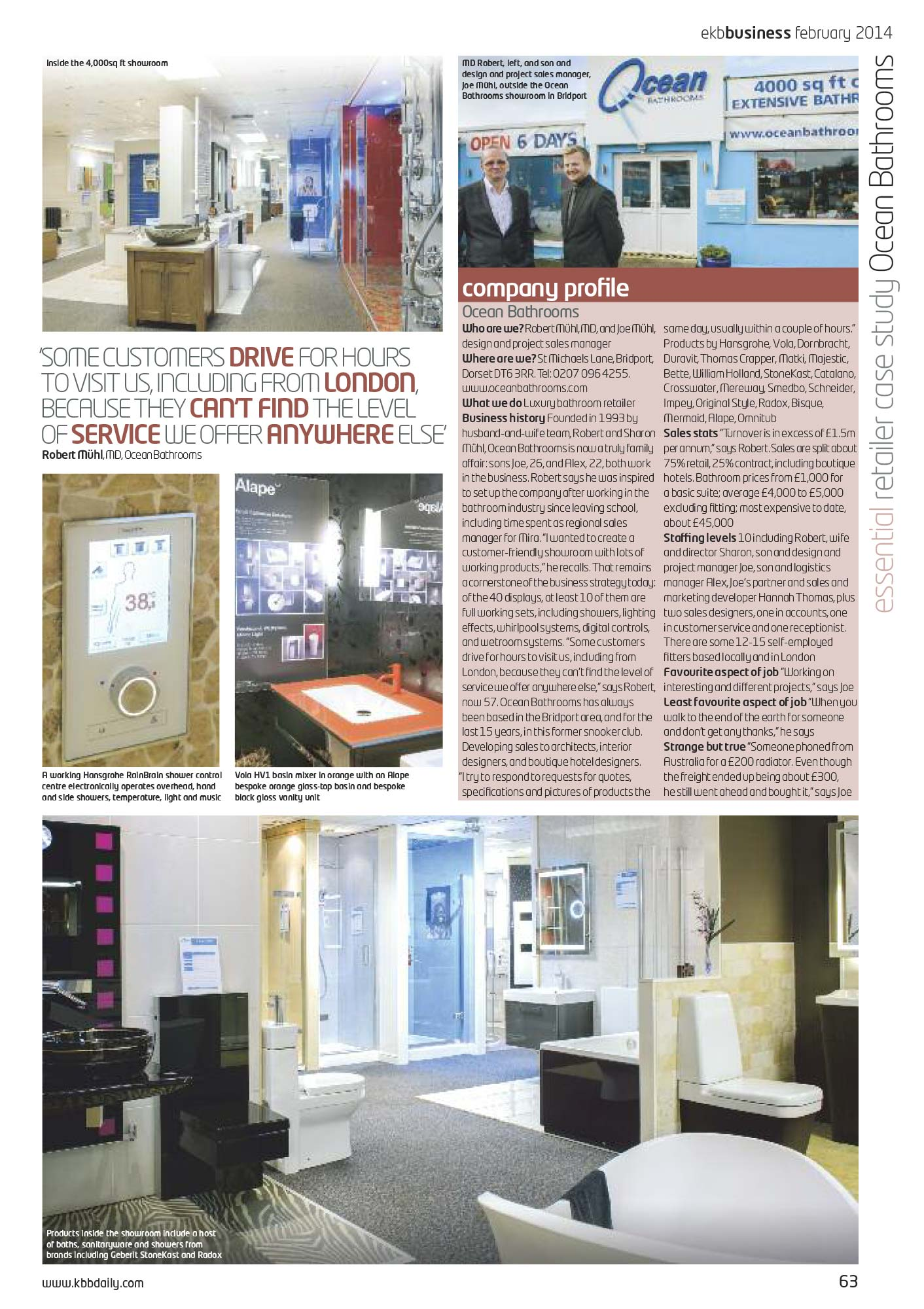EKB Business Ocean Bathrooms feature - February 2014