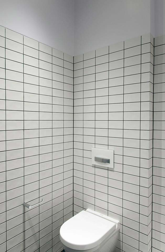45 Queens Gate wall-hung WC and Geberit flush plate