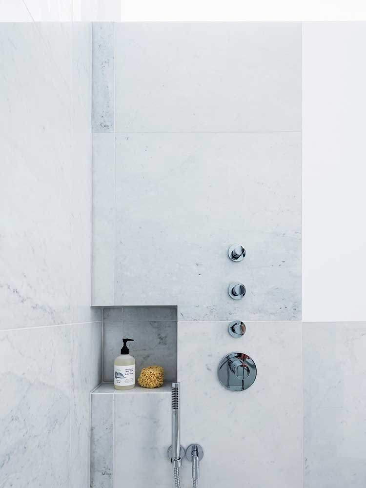 Chalcot Square bathroom shower controls