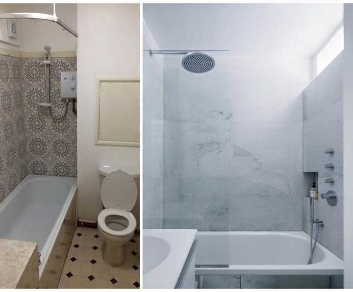 Chalcot Square bathroom before and after