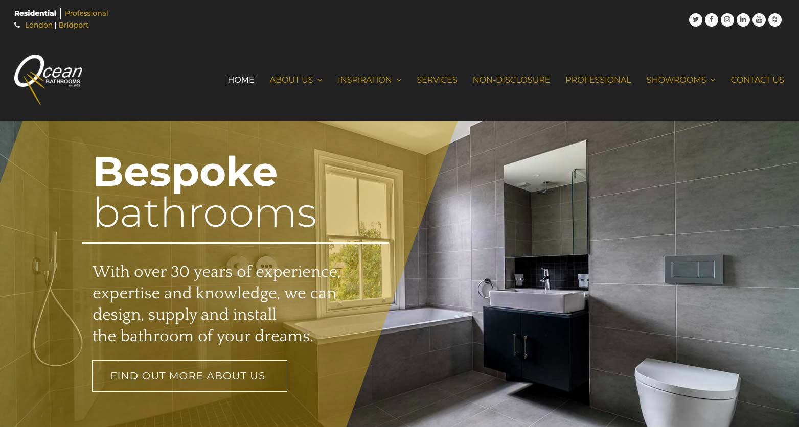 Ocean Bathrooms New Website Home Page