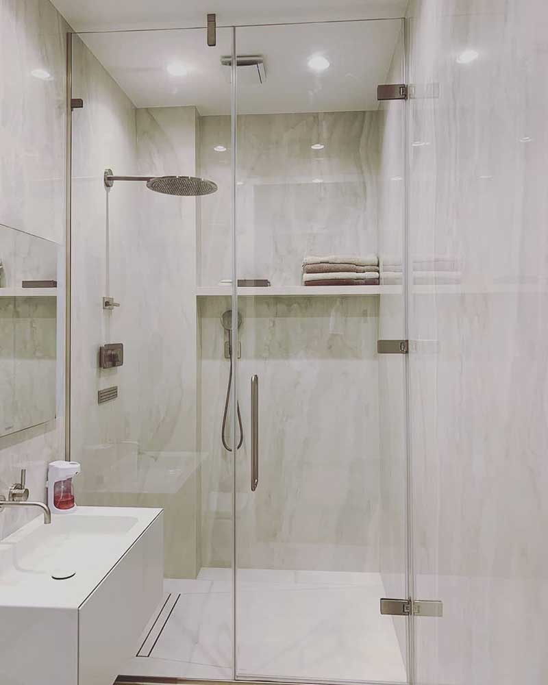 Residential wet room project with bespoke shower enclosure from Majestic Showers