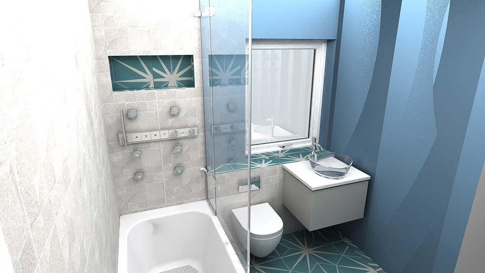 Virtual Worlds bathroom design software 3D mockup