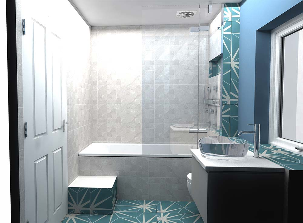 Virtual Worlds bathroom design software side view