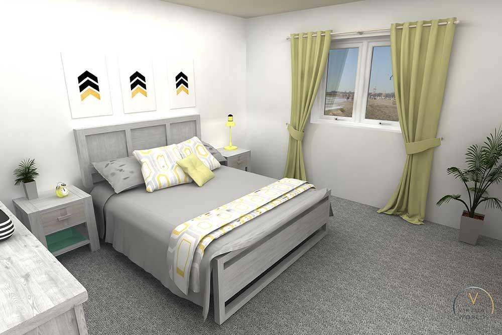 Bedroom Render In Virtual Worlds
