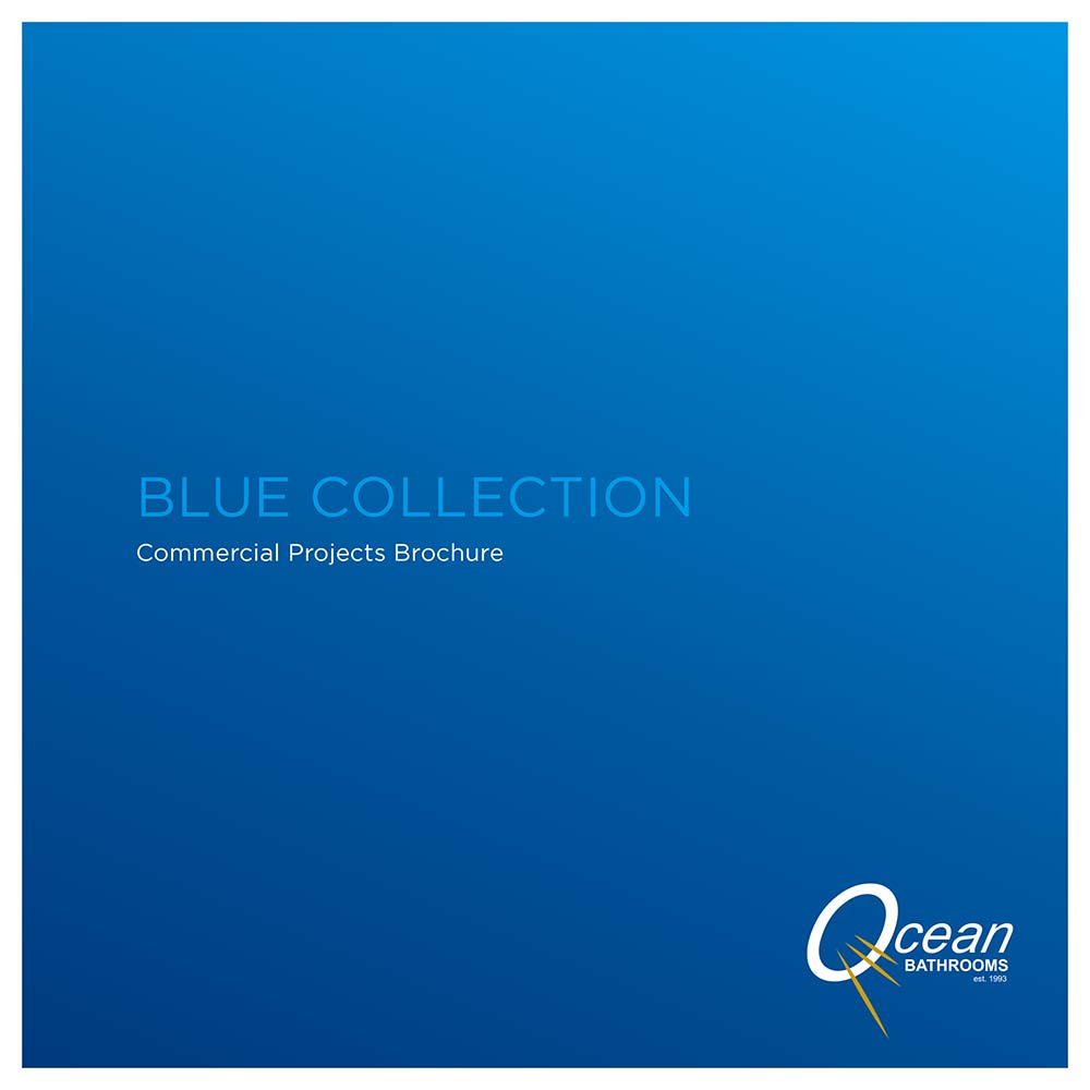 Ocean Bathrooms Blue Collection commercial bathrooms brochure