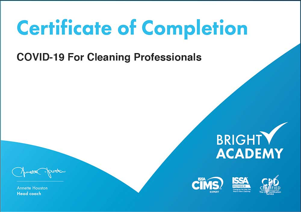 Covid-19 certified cleaning service