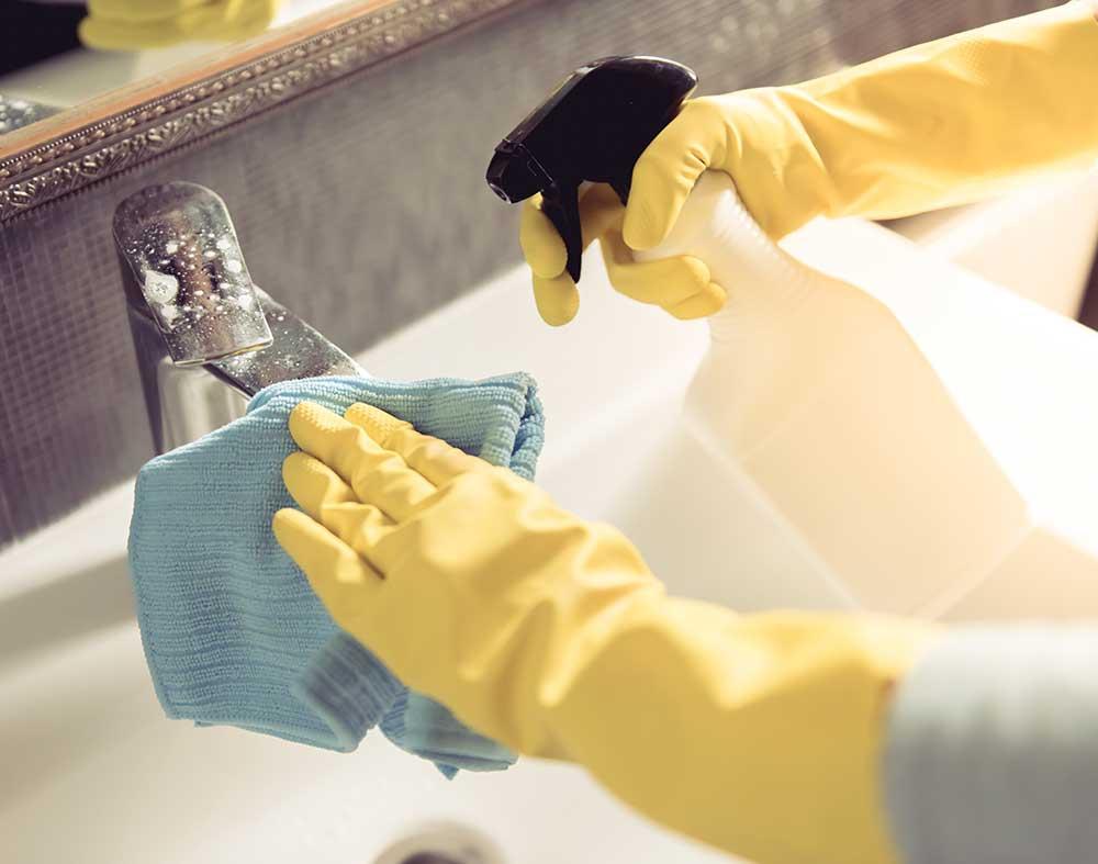 Ocean Bathrooms cleaning tap