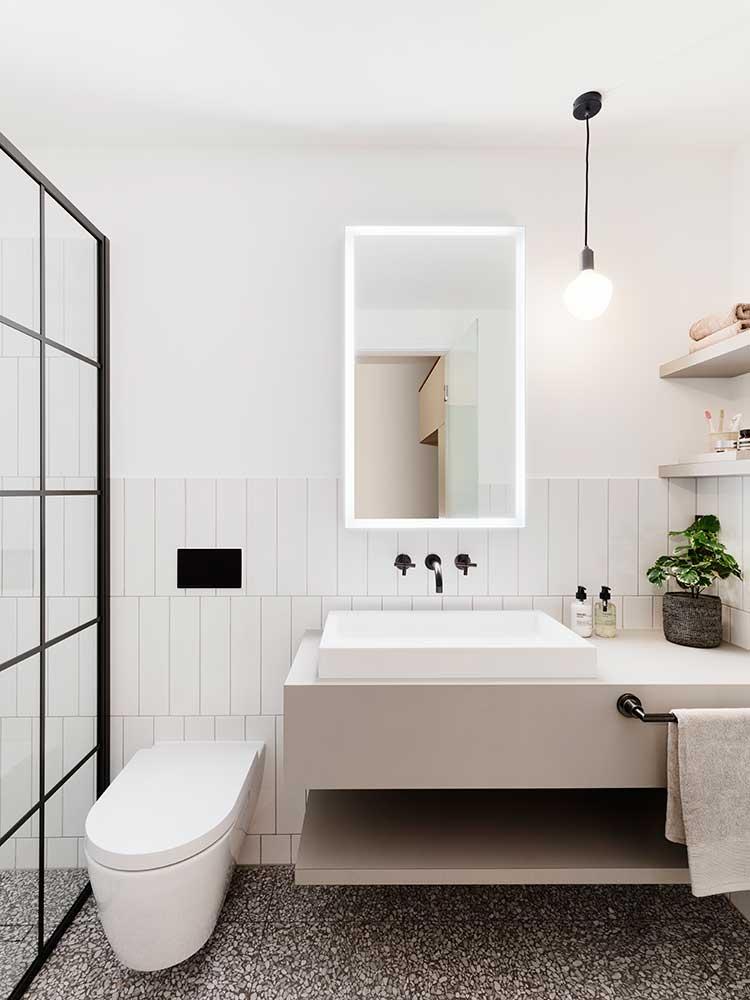 Queens Gate Terrace - shower room sink area