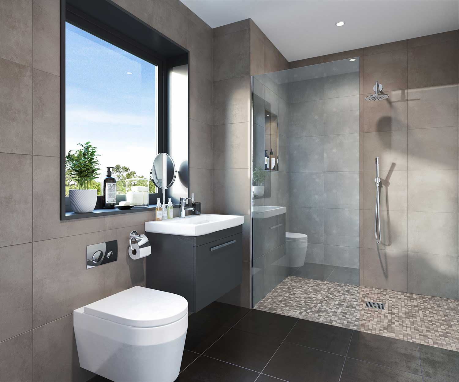 Luxury bathrooms for apartments in Weyhill, Haslemere