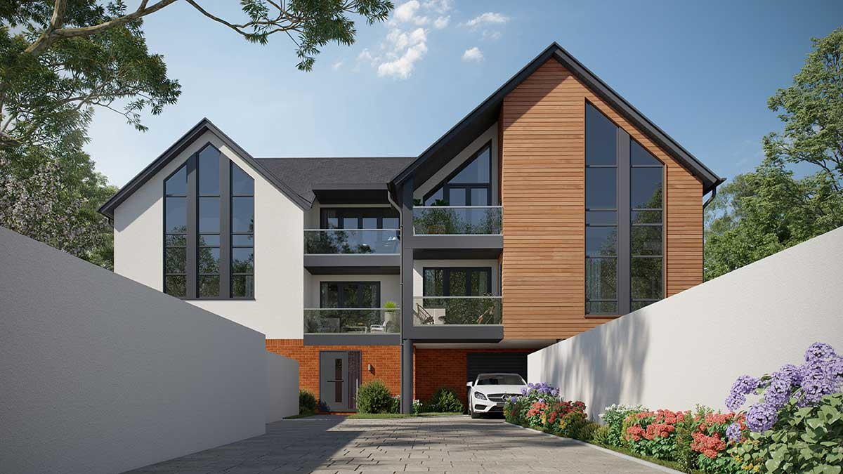 Luxury apartment development in Weyhill, Haslemere